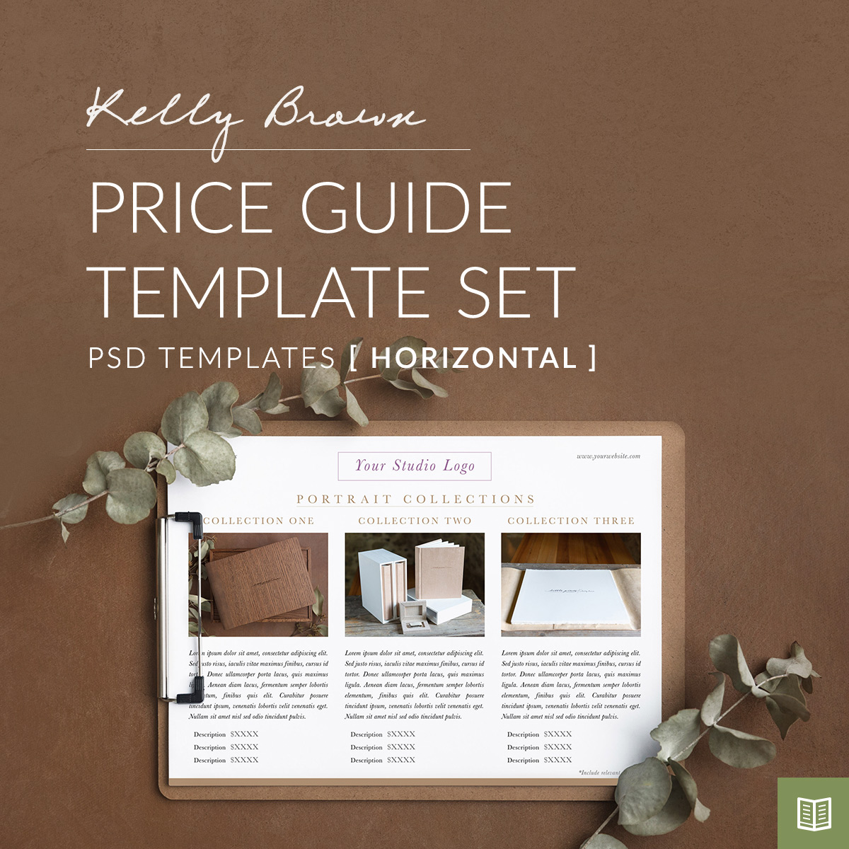 Price guide template Photoshop - kelly brown newborn posing