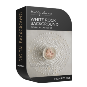 newborn digital background white rocks