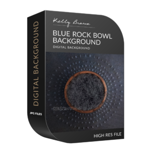 Blue Rock Bowl digital background for newborns
